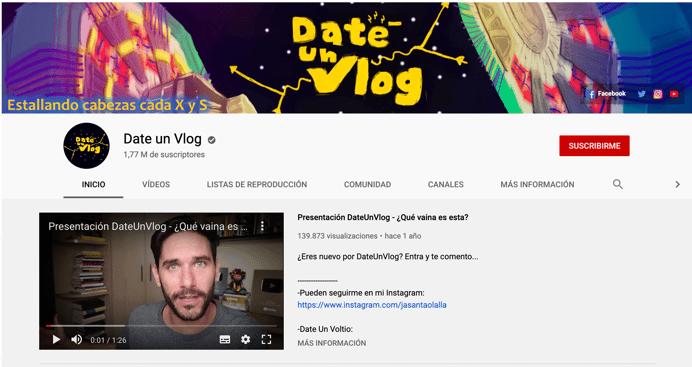 Javier Santaolalla Date un Vlog